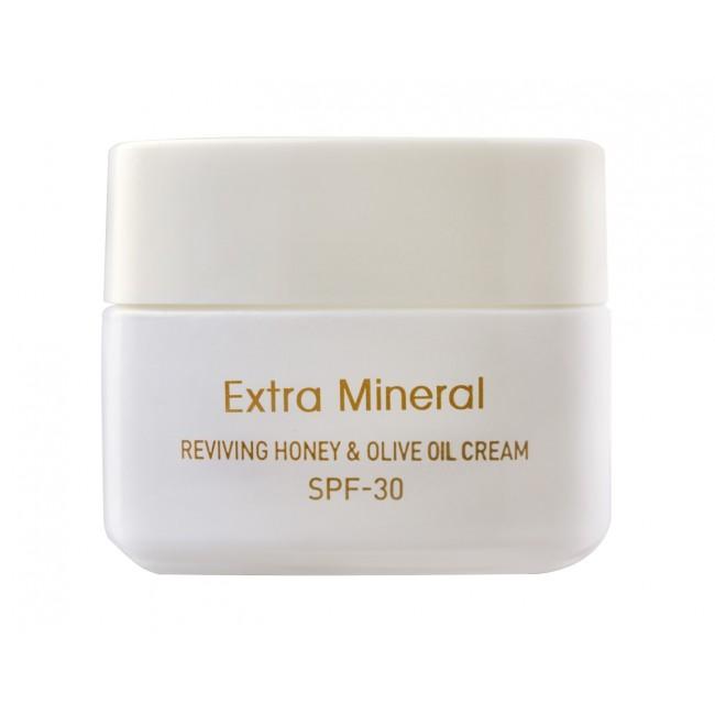 Extra Mineral-קרם מחדש עם דבש ושמן זית SPF30