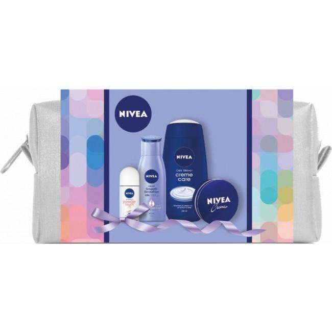מארז טיפוח מפנק NIVEA לאישה תיק איפור אופנתי המכיל 4 מוצרים אהובים-משלוח חינם