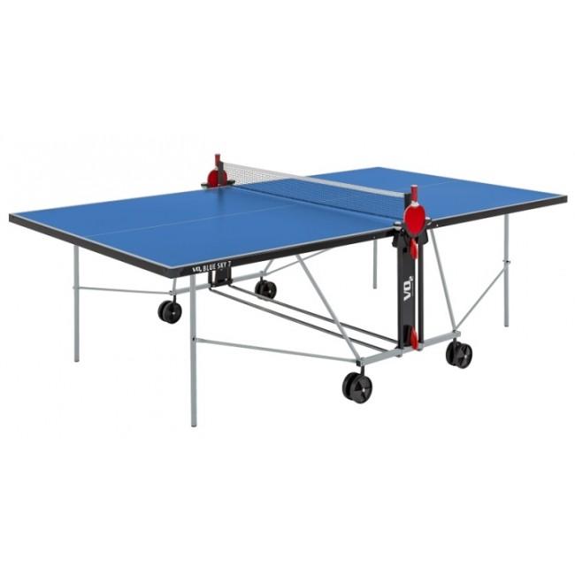 שולחן טניס שולחן חוץ Bluesky7 סט מחבטים וכדורים מתנה משלוח חינם