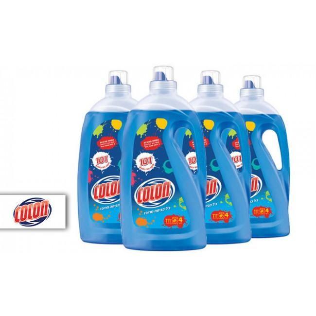 מארז 4 בקבוקי ג'ל כביסה קולון קלאסי 4 בקבוקי ג'ל כביסה מרוכז בנפח כולל של 16 ליטר, המיועדים לסייע בניקוי 101 כתמים-משלוח עד הבית חינם