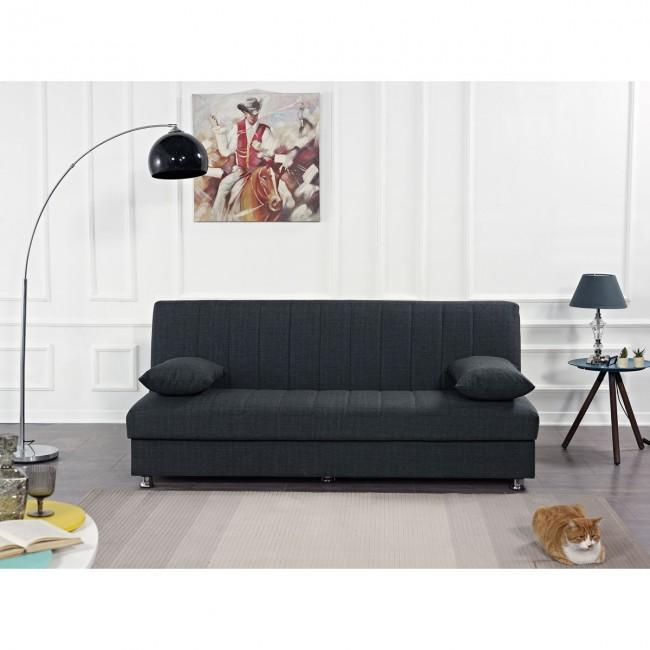 ספה תלת מושבית נפתחת למיטה עם ארגז מצעים-שתי כריות נוי במתנה