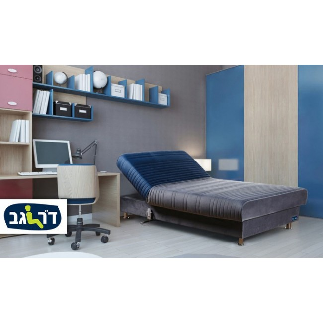ד''ר גב-מיטת נוער מתכווננת חשמלית ברוחב וחצי דגם PLAY במבחר צבעים
