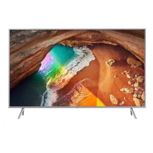 מסך טלויזיה 100 אחוז  צבעים QLED Samsung UHD 55 SMART מסגרת כסופה