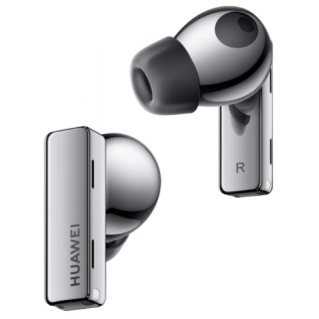 אוזניות אלחוטיות Huawei FreeBuds Pro Bluetooth עם מיקרופון בצבע כסוף/שחור הכוללות כיסוי טעינה משלוח חינם
