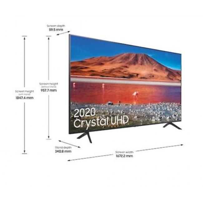 טלויזיה חכמה Samsung 75'' Smart TV UE75TU7100  משלוח חינם