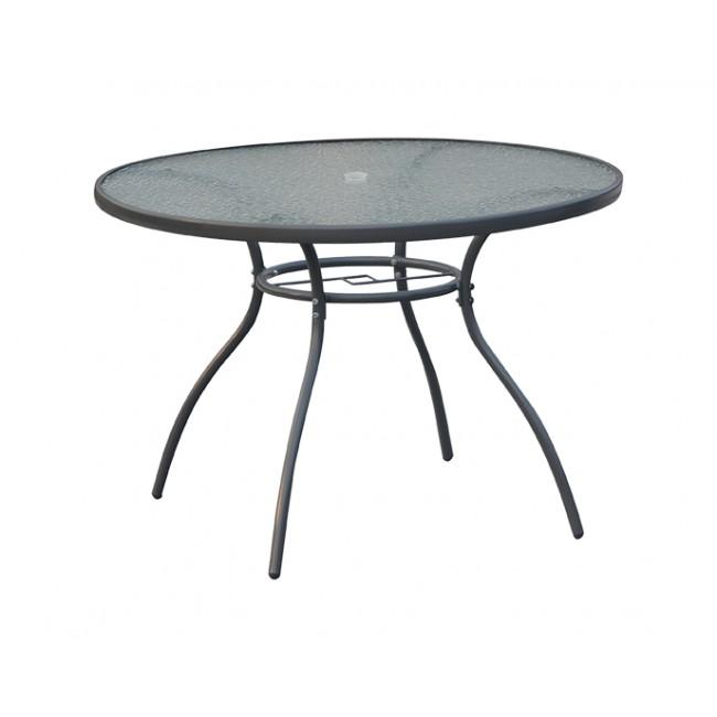 """שולחן גינה עגול דגם מלבורן 107 ס""""מ קוטר CAMPTOWN משלוח חינם"""