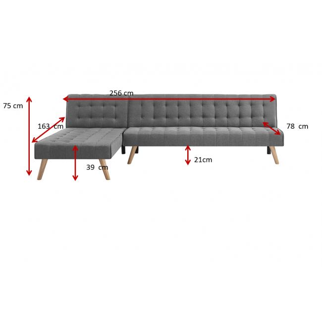 ספת אירוח פינתית מעוצבת וקלאסית הנפתחת למיטה דגם CHAIS    משלוח חינם