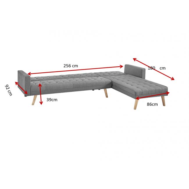 מערכת ישיבה פינתית עם ידיות-נפתחת למיטה דגם MANHATTAN משלוח חינם