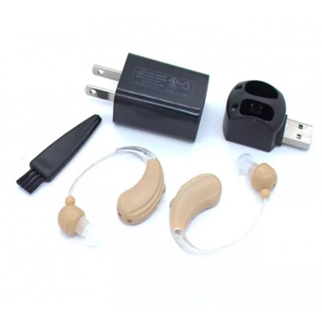מגביר שמיעה עוצמתי נטען USB-כפול לשני האוזניים משלוח חינם