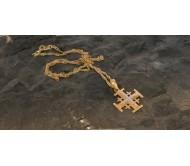 Ожерелье и подвесное серебристое покрытие Золото 24K