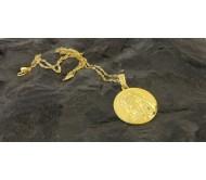 Ожерелье и кулон Девы Марии изготовлены из серебра Золото 24K