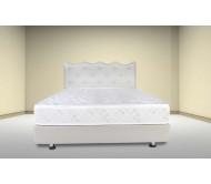 מיטה מרופדת בעלת ראש מעוגל מעוצב קפיטונג' עם כפתורי קריסטל - דגם 6002