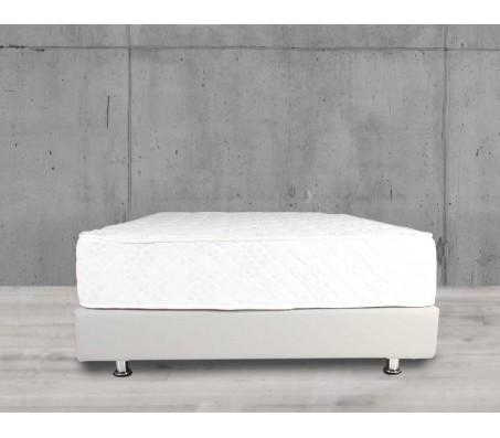 מיטה - עץ אורן מלא בתוספת רגלי ניקל - דגם 6003