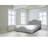 מיטה מעץ מלא מרופדת בדמוי עור , בתוספת קפיטונ'ג - דגם 6006