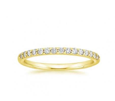 טבעת איטרניטי יהלומים בזהב 14 קאראט
