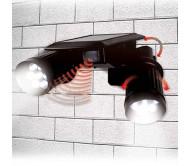 Двойной светодиодный прожектор на солнечной батарее