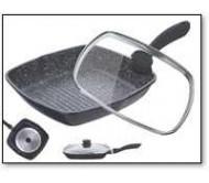 מחבטוגריל איכותי לטיגון מקצועי עשוי גרניט ואלומיניום יצוק, עם שכבה המונעת הדבקות לגריל PETERHOF