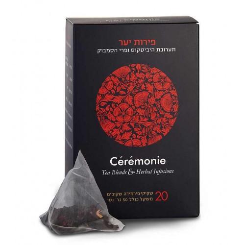 Травяной чай без кофеина ЛЕСНЫЕ ЯГОДЫ пирамидки
