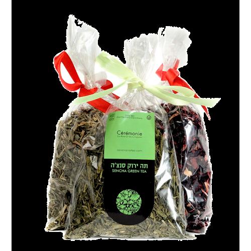 Подарочная упаковка зеленого чая сэнтя