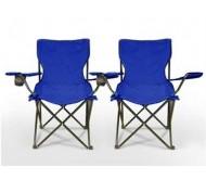 Пара складных пляжных стульев