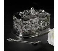 Вазочка для меда с покрытием из серебра
