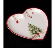 Сервировочная тарелка в форме сердца