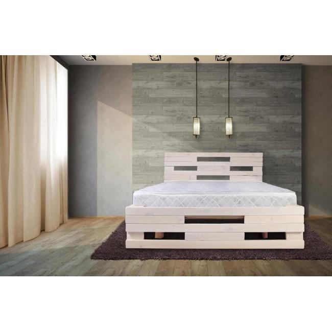 מיטה זוגית  מעץ אורן מלא במבצע  כולל מזרון הובלה והרכבה