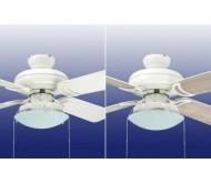 Подвесной потолочный вентилятор 42 инч Star белый + освещение