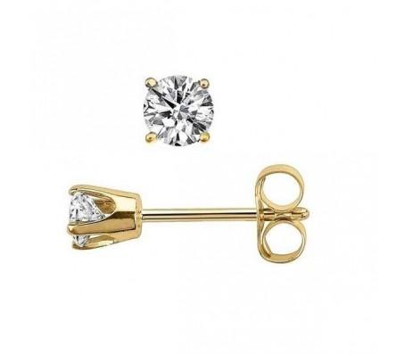 Цепочка с кулоном из белого золота 14 карат с бриллиантом 0.12 карата