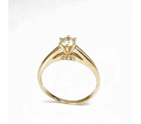 """Кольцо из золота 14 карат с бриллиантом """"Мика""""  0.33 карата"""
