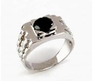 טבעת שעון לגבר משובצת יהלום 1.35קראט בזהב