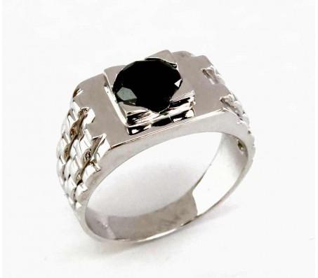 Мужское кольцо-часы из золота 14 карат с бриллиантом 1.35 карата