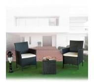 Столик и 2 стула из искуственного ротанга