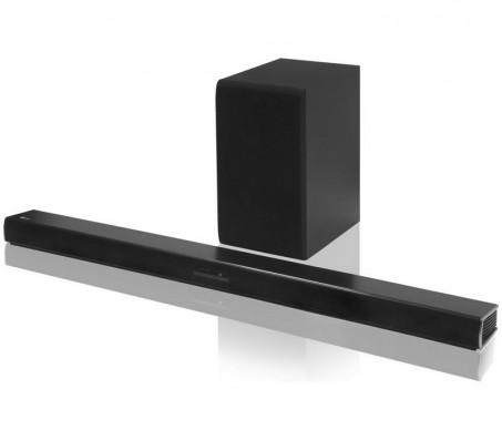 מקרן קול (סאונד בר) 2.1 ערוצים, 300 וואט, עיצוב דק בגימור שחור עם חיבור HDMI וסאב וופר אלחוטי LG דגם: SJ4