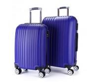 סט 2 מזוודות קשיחות 4 גלגלים מסיליקון